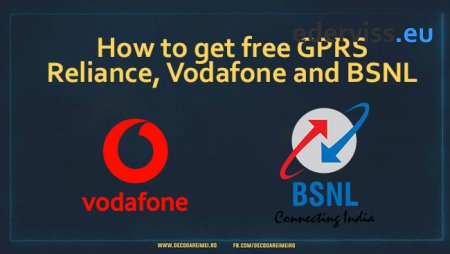 How to get free GPRS, Reliance, Vodafone and BSNL