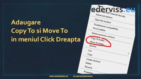 Adaugare Copy To si Move To in meniul Click Dreapta